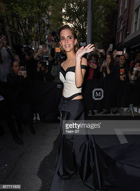 Emma Watson is seen going to Met Gala on May 2 2016 in New York City