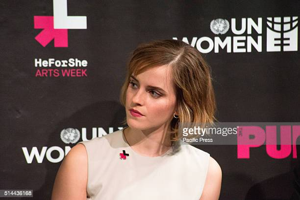 JOE'S PUB NEW YORK NY UNITED STATES Emma Watson participates in the panel discussion On International Women's Day NYC First Lady Chirlaine McCray UN...