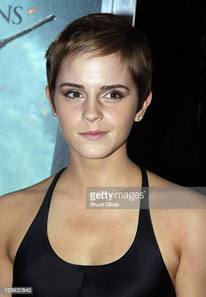 Emma Watson poses at the premiere of Harry Potter and the Deathly Hallows Part 1 at Alice Tully Hall on November 15 2010 in New York City