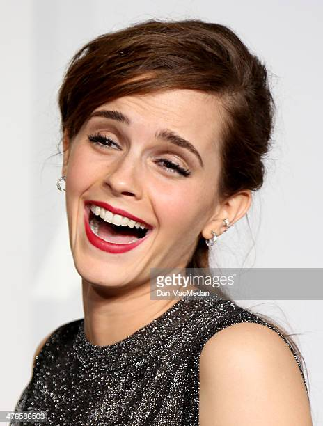 Emma Watson poses in the press room at the 86th Annual Academy Awards at Hollywood Highland Center on March 2 2014 in Los Angeles California