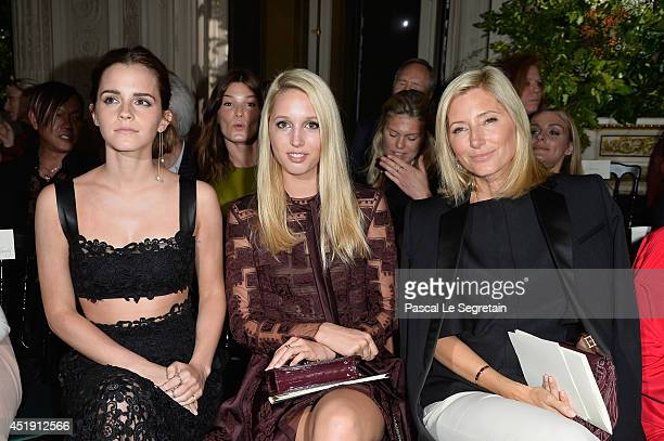 Emma Watson Princess Maria Olympia of Greece and Crown Princess Marie Chantal of Greece attend the Valentino show as part of Paris Fashion Week Haute...