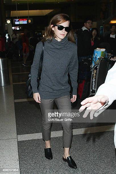 Emma Watson seen at LAX on October 31 2014 in Los Angeles California