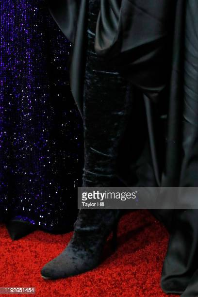 Emma Watson shoe detail attends the world premiere of Little Women at Museum of Modern Art on December 07 2019 in New York City