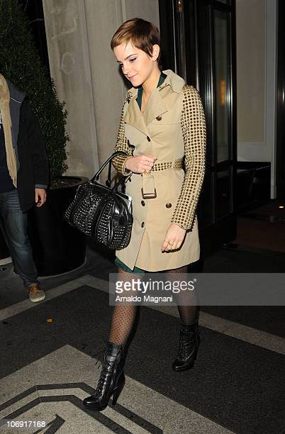 Emma Watson sighting on November 16 2010 in New York City