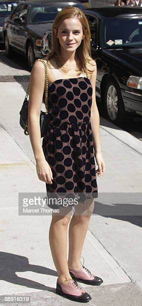 Emma Watson visits Late Show With David Letterman at the Ed Sullivan Theater on July 8 2009 in New York City