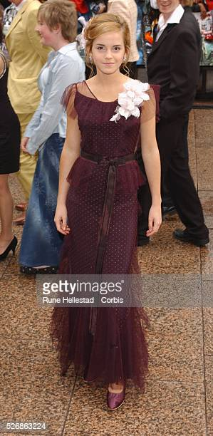 "Emma Watson, who plays Hermione Granger, attends the premiere of ""Harry Potter and the Prisoner of Azkaban"" at the Odeon, Leicester Square in London."