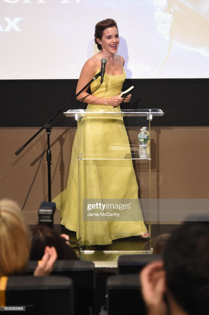 Emma Watson, Who Stars As Belle In Disney's Beauty And The Beast, Shares Her Love Of Books With Children From The NY Film Society For Kids At Lincoln Center's Beale Theater
