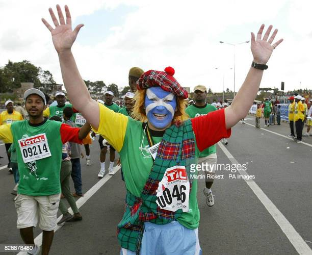 Emma WatsonMack from Edinburgh finishes The Great Ethiopian Run 2003 in Addis Ababa Ethiopia