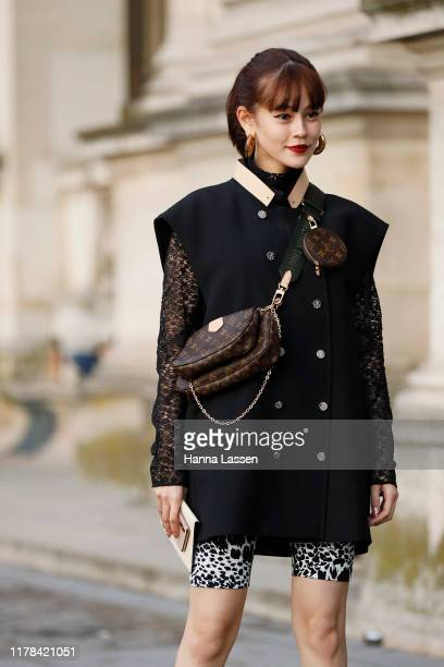 Emma wearing Louis Vuitton outside Louis Vuitton Paris Fashion Week Womenswear Spring Summer 2020 on October 01 2019 in Paris France