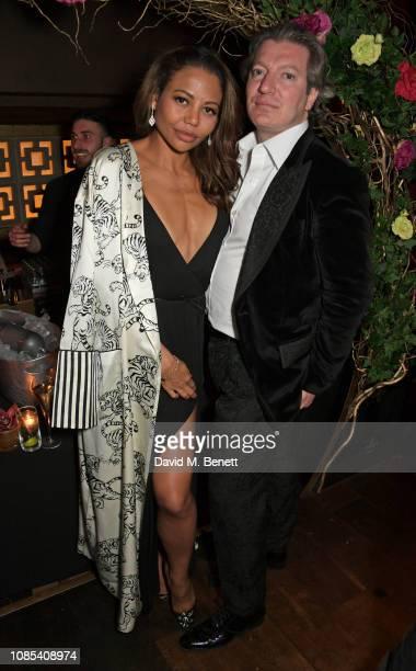 Emma Weymouth and Ceawlin Thynn Viscount Weymouth attend Lisa Tchenguiz's birthday party at Buddha Bar Knightsbridge on January 19 2019 in London...