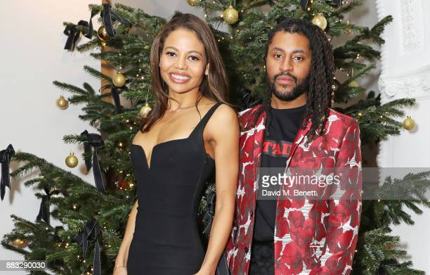Emma Weymouth and Cobbie Yates attend a party hosted by NETAPORTER and MR PORTER to celebrate the festive season in style at One Horse Guards on...