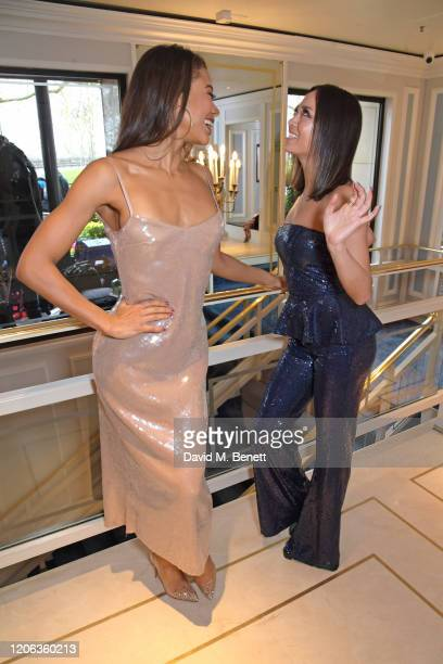 Emma Weymouth and Katya Jones arrive at the TRIC Awards 2020 at The Grosvenor House Hotel on March 10 2020 in London England