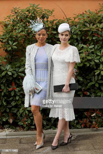 Emma Weymouth and Lady Kitty Spencer attend day 1 of Royal Ascot at Ascot Racecourse on June 18 2019 in Ascot England