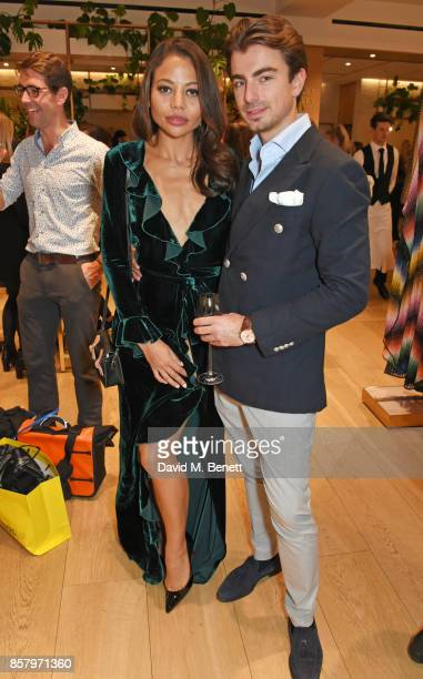 Emma Weymouth and Piotr Krzymowski attend the launch of the new Lady Garden limited edition tshirts designed by Naomi Campbell Cara Delevingne Poppy...