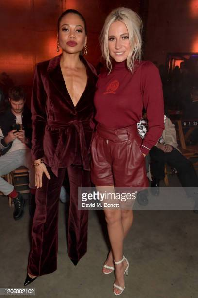 Emma Weymouth and Pixie Lott attend the TOMMYNOW London Spring 2020 at Tate Modern on February 16, 2020 in London, England.