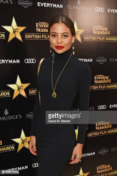 Emma Weymouth arrives at the London Evening Standard British Film Awards 2018 at Claridge's Hotel on February 8 2018 in London England