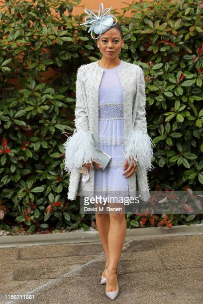Emma Weymouth attends day 1 of Royal Ascot at Ascot Racecourse on June 18 2019 in Ascot England