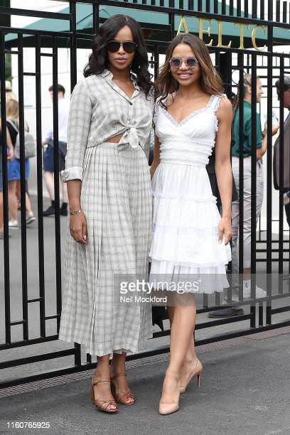 Emma Weymouth attends day 7 of the Wimbledon 2019 Tennis Championships at All England Lawn Tennis and Croquet Club on July 08 2019 in London England