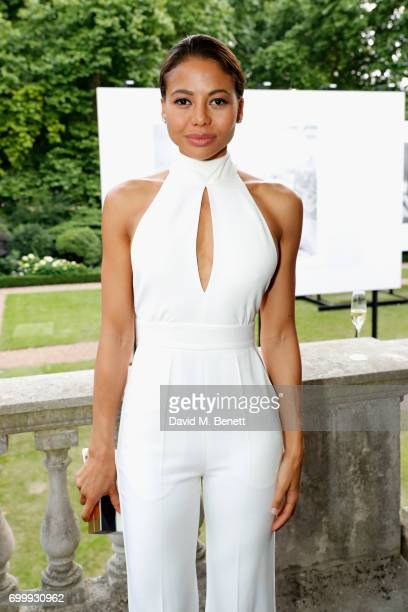 Emma Weymouth attends Kate Moss Mario Sorrenti launch of the OBSESSED Calvin Klein fragrance launch at Spencer House on June 22 2017 in London England