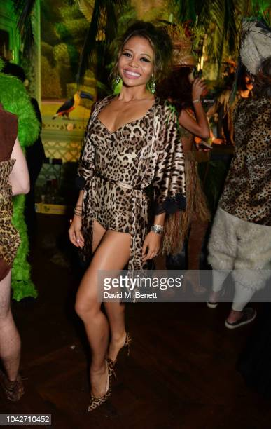 Emma Weymouth attends the Jungle Party at Annabel's on September 28 2018 in London England