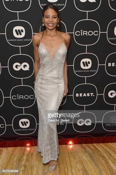 Emma Weymouth attends the Warner Music CIROC BRIT Awards 2018 afterparty at Freemasons Hall on February 21 2018 in London England