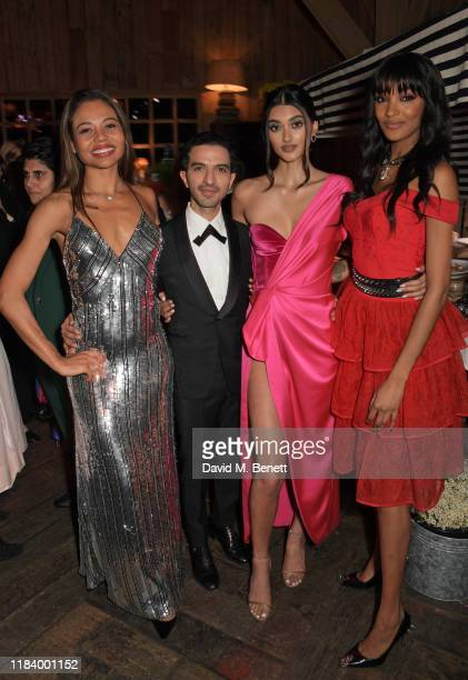Emma Weymouth, Founder & CEO of Business of Fashion Imran Amed, Neelam Gill and Jourdan Dunn attend the gala dinner in honour of Edward Enninful,...