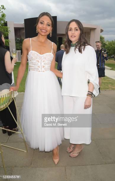 Emma Weymouth, Marchioness of Bath, and Tania Fares attend a drinks reception celebrating 2021 BFC/GQ Designer Menswear Fund winner Priya Ahluwalia...