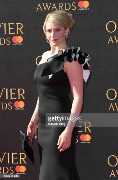 Emma Williams arrives for The Olivier Awards 2017 at the Royal Albert Hall on April 9 2017 in London England