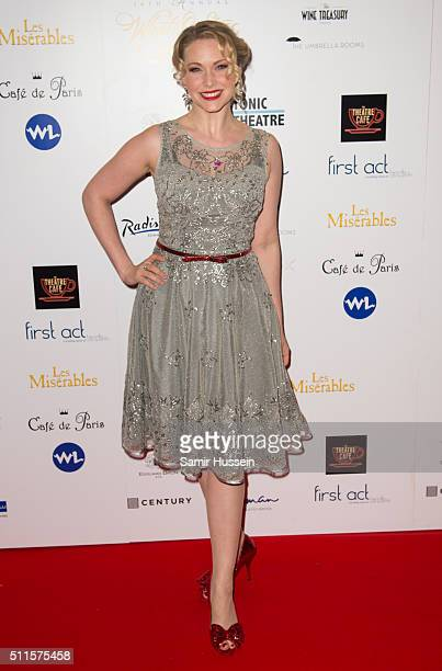 Emma Williams arrives for the WhatsOnStage Awards at Prince Of Wales Theatre on February 21 2016 in London England