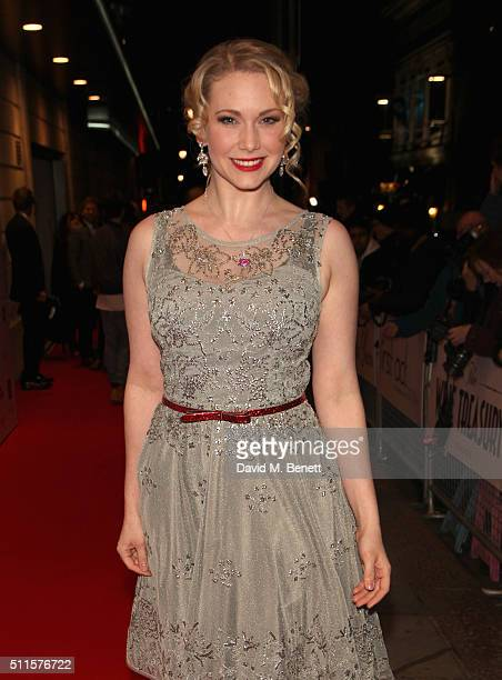 Emma Williams attends the 16th Annual WhatsOnStage Awards at The Prince of Wales Theatre on February 21 2016 in London England