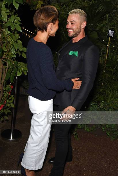 Emma Willis and cast member Matt Willis attend the press night after party for 'Little Shop Of Horrors' at Regent's Park Open Air Theatre on August...