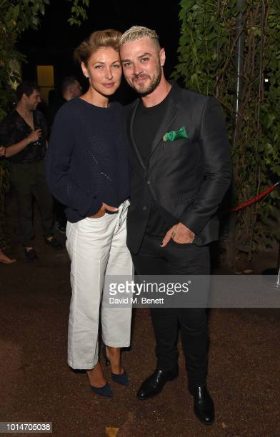 Emma Willis and cast member Matt Willis attend the press night after party for Little Shop Of Horrors at Regent's Park Open Air Theatre on August 10...