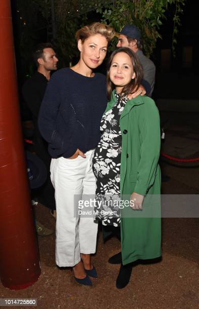 Emma Willis and Giovanna Fletcher attend the press night after party for 'Little Shop Of Horrors' at Regent's Park Open Air Theatre on August 10 2018...