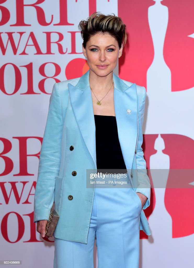 Emma Willis attending the Brit Awards at the O2 Arena, London