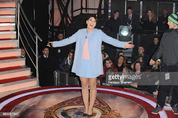 Emma Willis attends as Liz Jones is evicted from the Celebrity Big Brother house at Elstree Studios on January 22 2014 in Borehamwood England