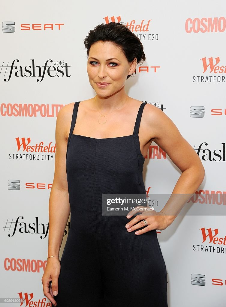 Emma Willis attends Cosmopolitan #Fashfest 2016 VIP show and party at Old Billingsgate Market on September 15, 2016 in London, England.
