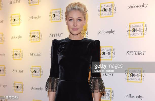 Emma Willis attends Stylist's inaugural Remarkable Women Awards in partnership with philosophy at Rosewood London on March 5 2019 in London England