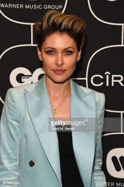Emma Willis attends the Brits Awards 2018 After Party hosted by Warner Music Group Ciroc and British GQ at Freemasons Hall on February 21 2018 in...