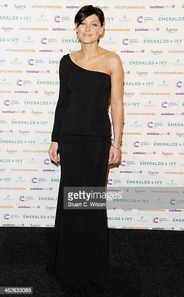 Emma Willis attends The Emeralds And Ivy Ball at Old Billingsgate Market on November 30 2013 in London England