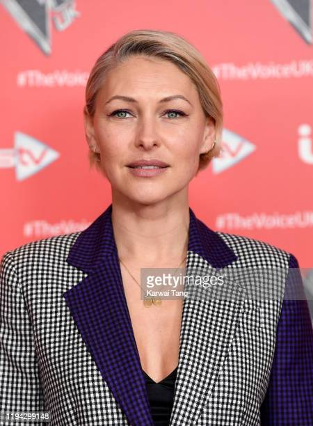 Emma Willis attends the new series launch of The Voice UK 2019 at The Soho Hotel on December 16 2019 in London England