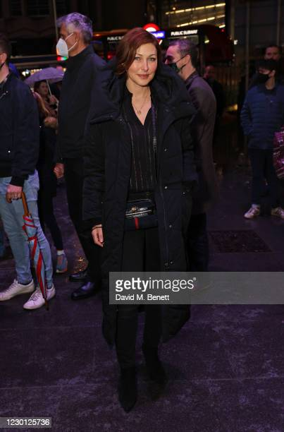 """Emma Willis attends the Opening Night of """"A Christmas Carol"""" at The Dominion Theatre on December 14, 2020 in London, England."""