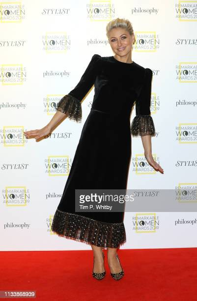 Emma Willis attends the Remarkable Women Awards at Rosewood London on March 05 2019 in London England