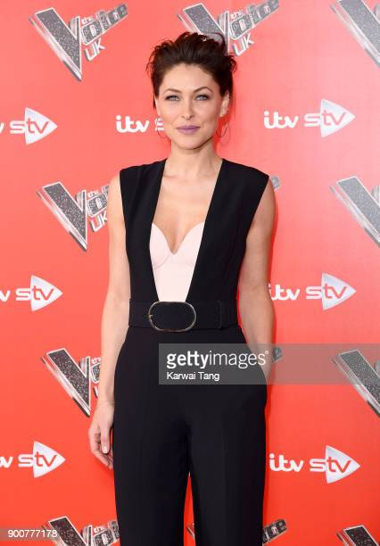 Emma Willis attends The Voice UK Launch photocall at Ham Yard Hotel on January 3 2018 in London England