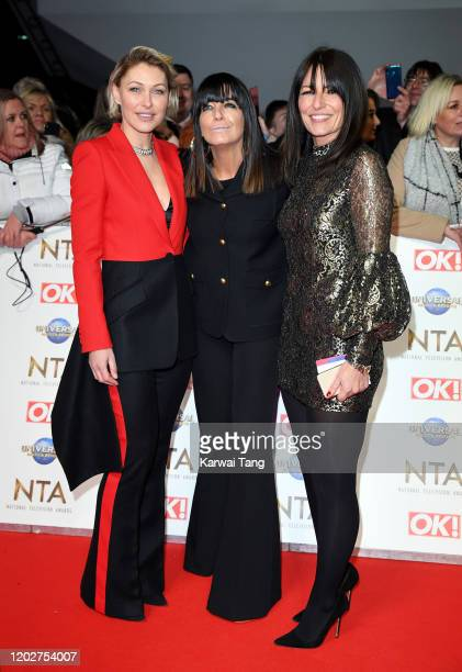 Emma Willis Claudia Winkleman and Davina McCall attend the National Television Awards 2020 at The O2 Arena on January 28 2020 in London England