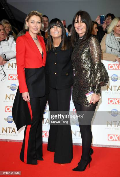 Emma Willis Claudia Winkleman and Davina McCall attends the National Television Awards 2020 at The O2 Arena on January 28 2020 in London England