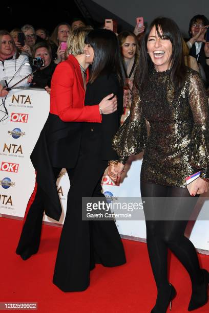 Emma Willis Claudia Winkleman and Davinia McCall attends the National Television Awards 2020 at The O2 Arena on January 28 2020 in London England
