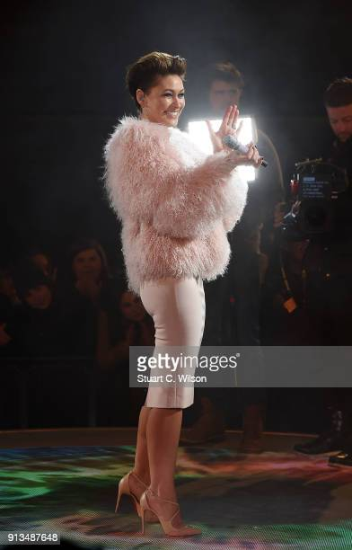 Emma Willis during the 2018 Celebrity Big Brother Final at Elstree Studios on February 2, 2018 in Borehamwood, England.