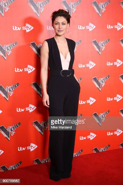 Emma Willis during The Voice UK Launch photocall held at Ham Yard Hotel on January 3 2018 in London England