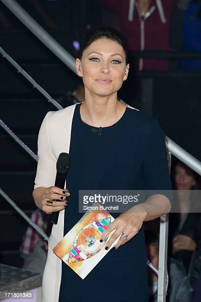Emma Willis hosts as the 2nd contestant is evicted from the Big Brother house at Elstree Studios on June 28 2013 in Borehamwood England