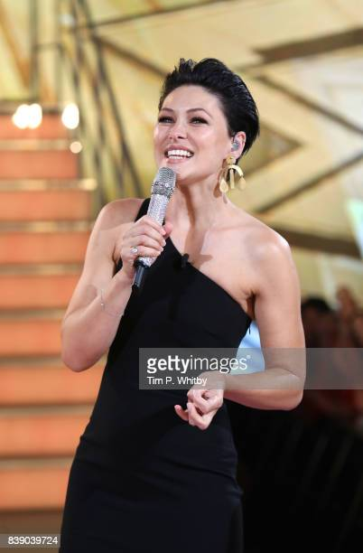 Emma Willis presenting during the Celebrity Big Brother Final at Elstree Studios on August 25 2017 in Borehamwood England
